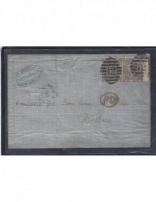 Carta Gran Bretaña época victoriana a Bilbao Gran Bretaña - Siglo XIX.