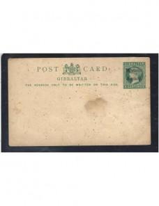 Tarjeta entero postal Gibraltar para oficina en Tanger Colonias y posesiones - Siglo XIX.