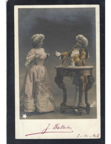 Tarjeta postal ilustrada España personajes de época España - 1900 a 1930.