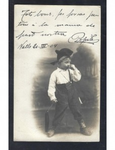 Tarjeta postal ilustrada España fotografía niño España - 1900 a 1930.