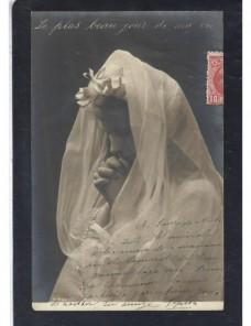Tarjeta postal ilustrada España fotografía Primera Comunión España - 1900 a 1930.