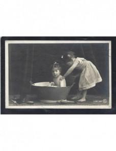 Tarjeta postal ilustrada España fotografía niñas España - 1900 a 1930.