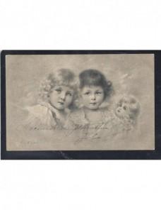Tarjeta postal ilustrada España personajes infantiles España - 1900 a 1930.
