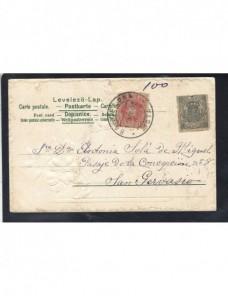 Tarjeta postal ilustrada España escena infantil y franqueo especial España - 1900 a 1930.