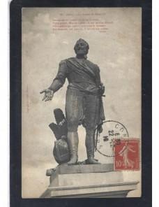 Tarjeta postal ilustrada Francia estatua Francia - 1900 a 1930.