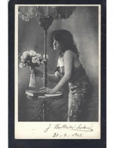 Tarjeta postal ilustrada España modelo femenina España - 1900 a 1930.