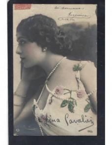 Tarjeta postal ilustrada España actriz Lina Cavalieri España - 1900 a 1930.