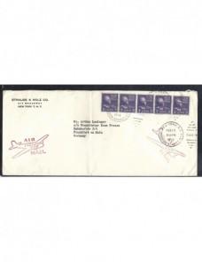 Carta comercial correo aéreo Estados Unidos EEUU - Desde 1950.