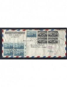 Carta comercial correo aéreo y certificado Estados Unidos EEUU - Desde 1950.