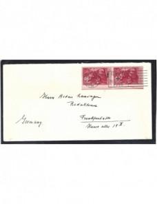 Carta Estados Unidos matasellos Cruz Roja EEUU - Desde 1950.