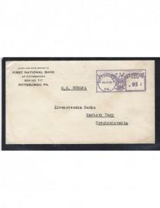 Carta de Estados Unidos con franqueo mecánico EEUU - 1931 a 1950.