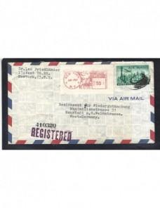 Carta aérea y certificada Estados unidos franqueo mixto  EEUU - 1931 a 1950.