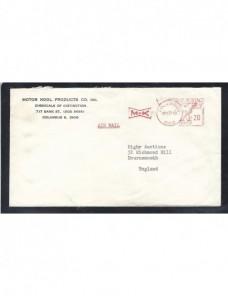 Carta de Estados Unidos con franqueo mecánico EEUU - Desde 1950.