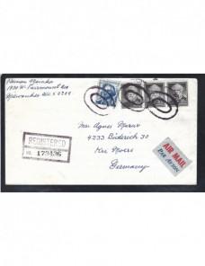 Carta correo aéreo y certificado Estados Unidos EEUU - Desde 1950.