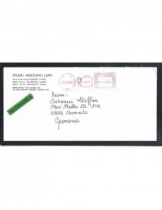 Carta certificada Italia franqueo mecánico Otros Europa - Desde 1950.