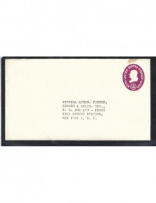 Sobre entero postal Estados Unidos EEUU - Desde 1950.