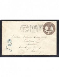 Sobre entero postal Estados Unidos EEUU - 1900 a 1930.