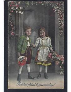 Tarjets postal ilustrada Checoslovaquia imagen infantil Otros Europa - 1931 a 1950.