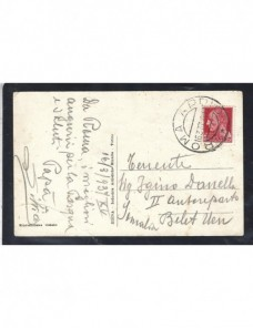 Tarjeta postal ilustrada Italia guerra de Abisinia Otros Europa - 1931 a 1950.