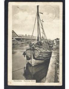 Tarjeta postal ilustrada India Holandesa Colonias y posesiones - 1900 a 1930.