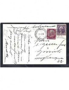 Tarjeta postal ilustrada Estados Unidos franqueo mixto y correo marítimo EEUU - 1931 a 1950.