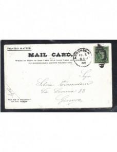 Tarjeta postal ilustrada desplegable Estados Unidos Nueva York EEUU - 1900 a 1930.