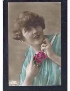Tarjeta postal ilustrada Alemania modelo femenina Alemania - 1900 a 1930.