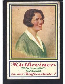 Tarjeta postal ilustrada Alemania publicidad café Alemania - 1931 a 1950.