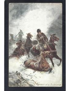 Tarjeta postal ilustrada Gran Bretaña escena caballos Gran Bretaña - 1900 a 1930.