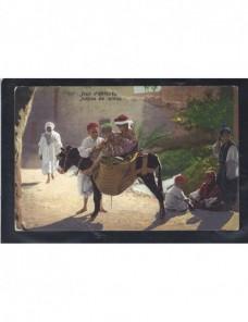 Tarjeta postal ilustrada Marruecos escena popular Otros Mundial - 1900 a 1930.