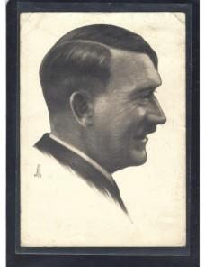Tarjeta postal ilustrada Alemania Hitler matasellos especial Alemania - 1931 a 1950.