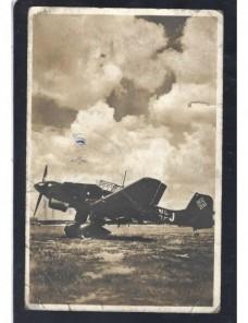 Tarjeta postal ilustrada Alemania correo de campaña II Guerra Mundial Potencias del eje - II Guerra Mundial.