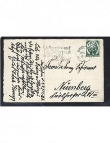 Tarjeta postal ilustrada Alemania felicitación Navidad Alemania - 1931 a 1950.