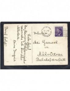 Tarjeta postal ilustrada Bohemia Moravia  Alemania - 1931 a 1950.
