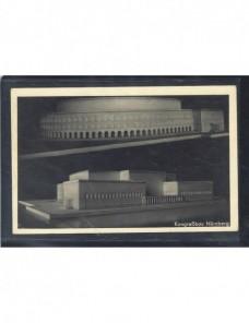 Tarjeta postal ilustrada Alemania arquitectura III Reich correo de campaña Alemania - 1931 a 1950.