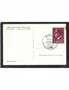 Tarjeta postal ilustrada Alemania arquitectura III Reich estadio olímpico Alemania - 1931 a 1950.