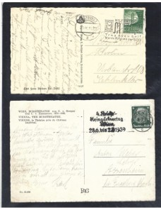Dos tarjetas postales ilustradas Austria anexión Alemania Alemania - 1931 a 1950.