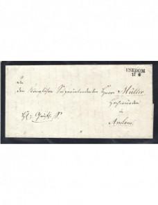 Prefilatalie carta oficial Alemania Usedom Alemania - Siglo XIX.