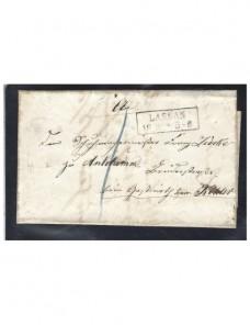 Prefilatelia carta oficial Alemania Lassan Alemania - Siglo XIX.
