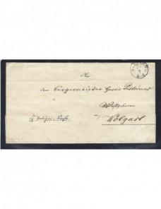 Prefilatelia carta Alemania Stettin Alemania - Siglo XIX.