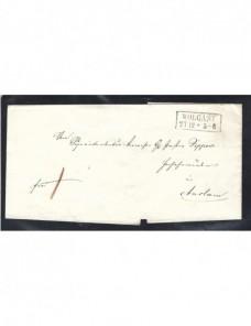 Prefilatelia carta Alemania Wolgast Alemania - Siglo XIX.