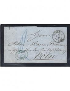 Prefilatelia carta Alemania Treveris Alemania - Siglo XIX.