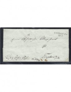 Prefilatelia Alemania carta Cammin Alemania - Siglo XIX.