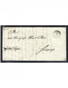 Prefilatelia Alemania carta Cottbus Alemania - Siglo XIX.