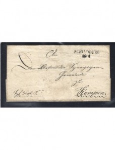 Prefilatelia carta oficial Alemania Schildberg Alemania - Siglo XIX.