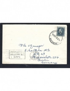 Carta Nueva Zelanda doble matasellos Otros Mundial - 1931 a 1950.