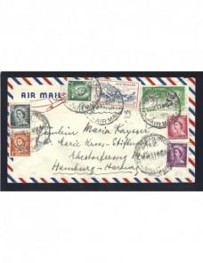 Carta correo aéreo Nueva Zelanda Otros Mundial - Desde 1950.