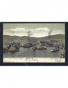 Tarjeta postal ilustrada Nueva Zelanda barcos Otros Mundial - 1900 a 1930.