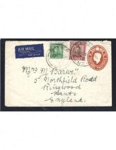 Sobre entero postal Nueva Zelanda vía aérea Otros Mundial - Desde 1950.
