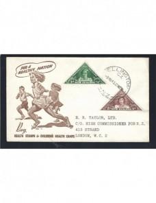 Carta Nueva Zelanda F.D.C. sellos salud infantil Otros Mundial - 1931 a 1950.